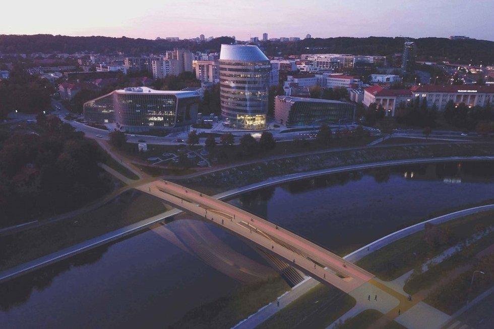 Tilto per Nerį projektas (nuotr. madeinvilnius.lt)