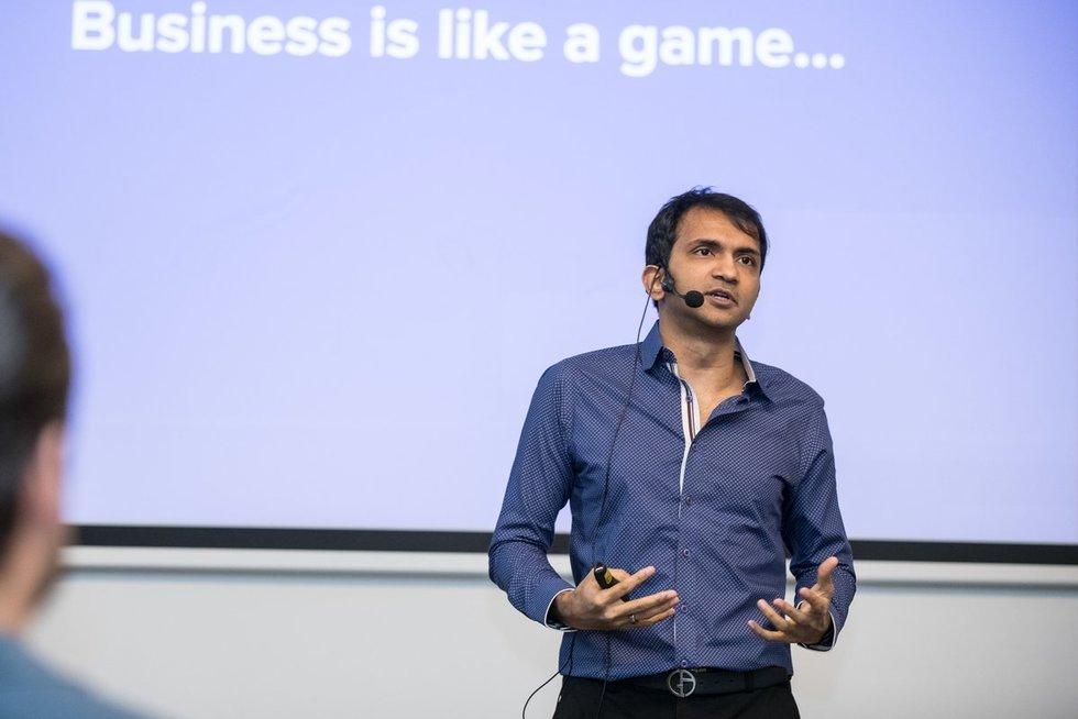 """""""Hostinger x Teso Talks: Meet & Greet Bhavin Turakhia"""" renginio akimirkos (nuotr. Organizatorių)"""