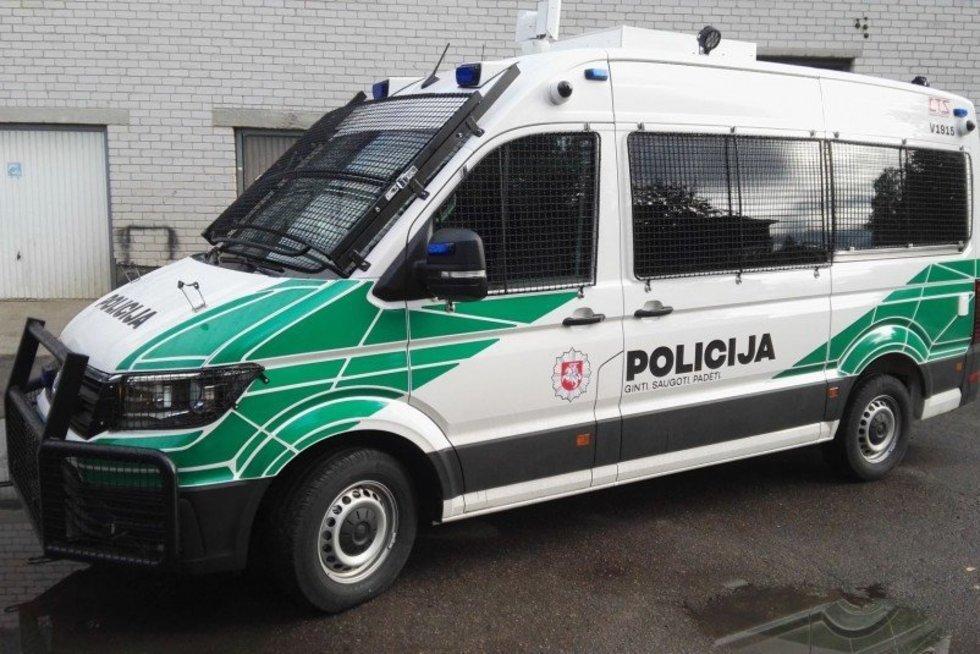 antiriaušinis mikroautobusas specialiosioms operacijoms ir renginiams, policijos nuotr. (nuotr. Policijos)