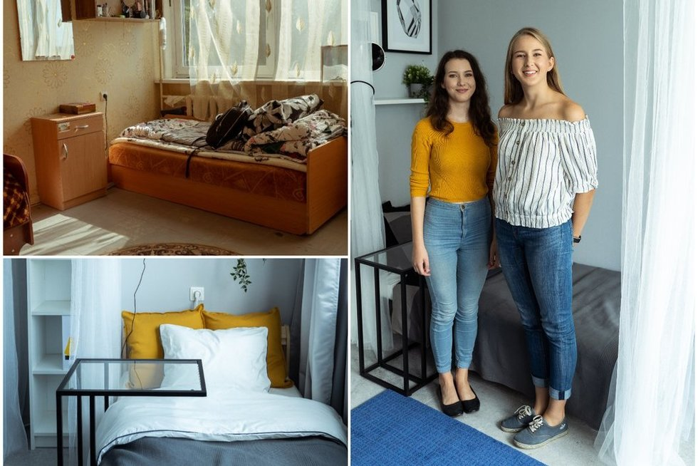 Studentės leido atnaujinti savo kambarį: tokių pokyčių nesitikėjo (nuotr. TV3)