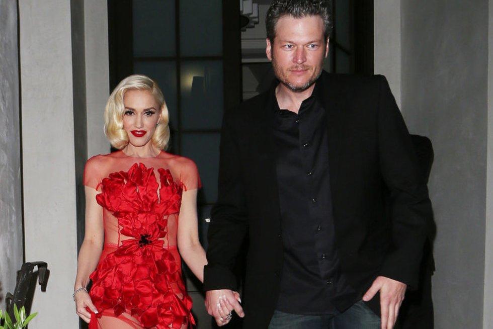 Gwen Stefani ir Blake'as Sheltonas (nuotr. Vida Press)