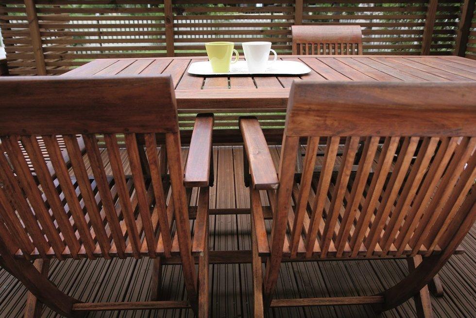 Lauko baldai (nuotr. Organizatorių)