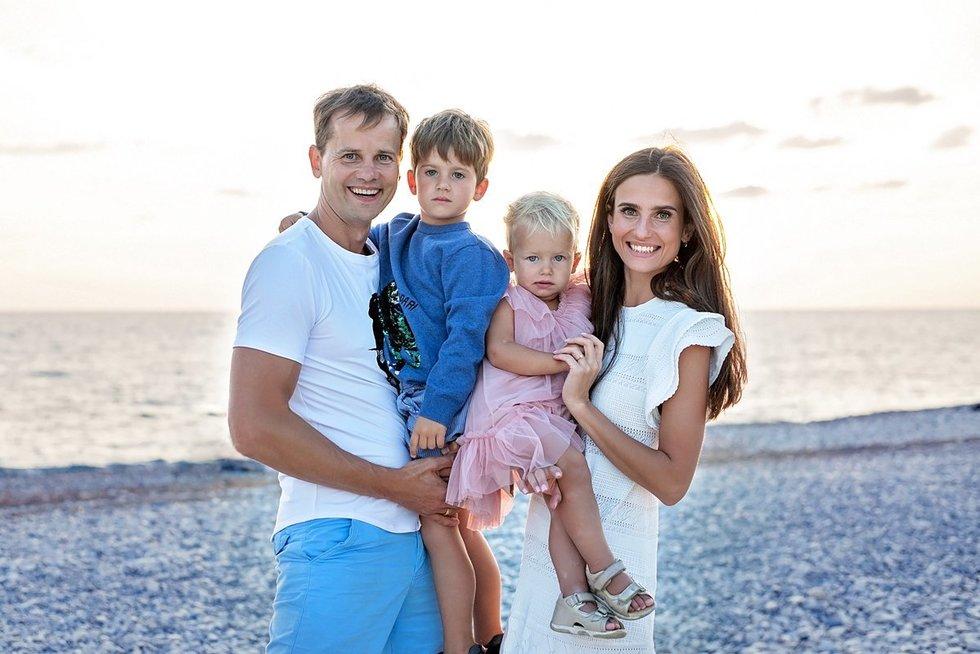 Nerijus Juška su šeima (nuotr. Organizatorių)