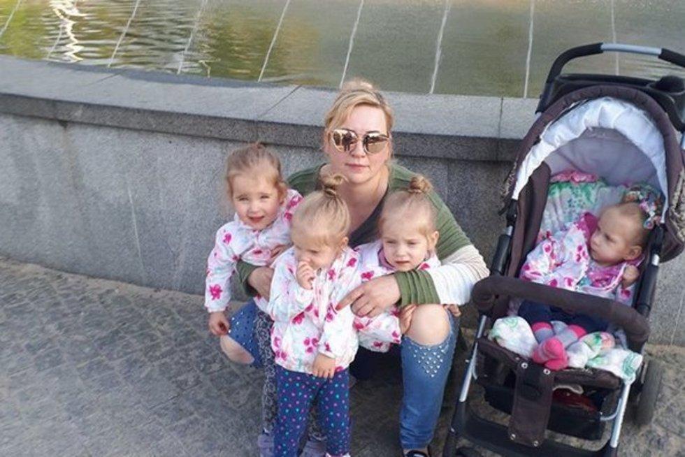 Lina Strangienė su savo dukrytėmis (nuotr. asm. archyvo)