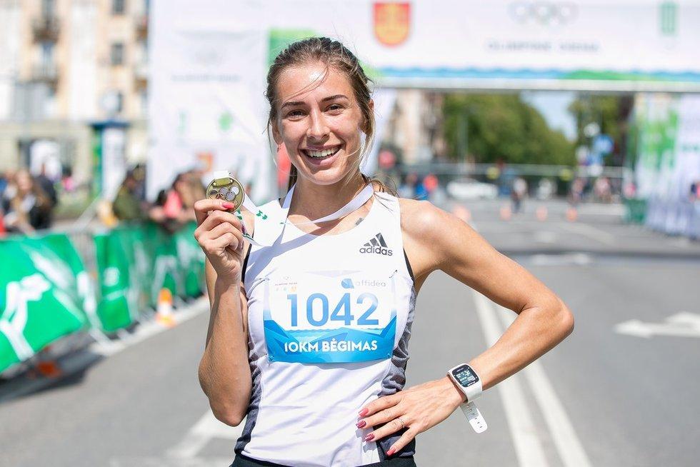 Bėgimo laimėtoja (nuotr. Sauliaus Čirbos)