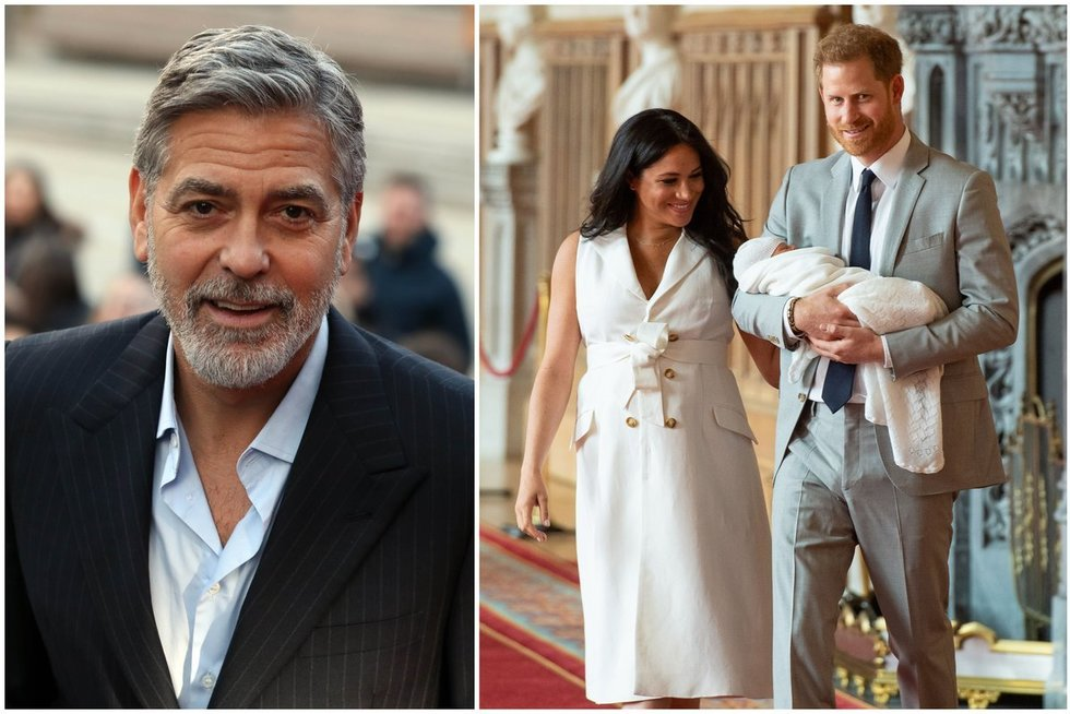 George Clooney, Meghan Markle ir princas Harry (tv3.lt fotomontažas)