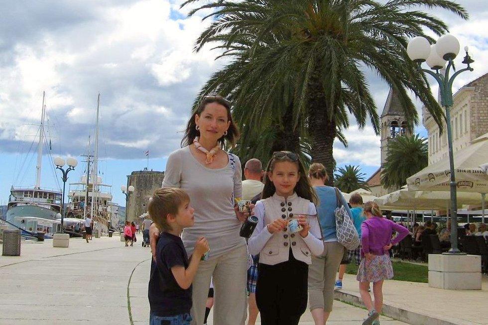 Eglė su savo vaikais. (nuotr. asm. archyvo)