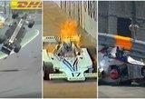 """15 šiurpiausių avarijų ir incidentų """"Formulės 1"""" istorijoje"""