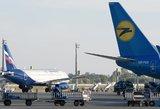 Ukraina ir Rusija stoja į kovą: kilus naujam ginčui nutraukė tiesioginius skrydžius