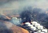 Kalifornijos naftos gamykloje su liepsnomis kovoja per du šimtus ugniagesių