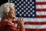 Mirė buvusi JAV pirmoji ponia Barbara Bush