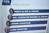 FIFA pradėjo naujojo prezidento rinkimų procedūrą