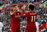 """Principinį mūšį dramatiškai laimėję """"Liverpool"""" – vėl viršūneje"""