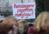 Mokytojų profsąjungos laukia atsakymo: kaip didės mokytojų atlyginimai?