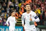 """Ronaldo: apie geriausią karjeros įvartį bei norą turėti daugiau """"auksinių batelių"""" už Messi"""