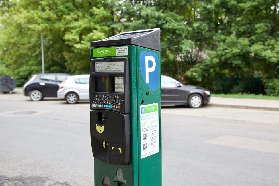 Naujieji stovėjimo parkomatai Vilniuje