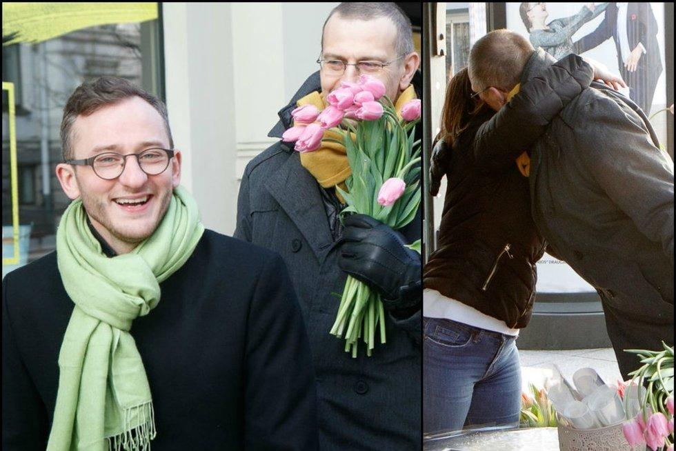Kovo 8-oji: ankstų rytą garsūs aktoriai moteris lepino gėlėmis (nuotr. Tv3.lt/Ruslano Kondratjevo)