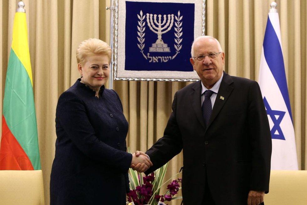 Reuvenas Rivlinas ir Dalia Grybauskaitė (nuotr. SCANPIX)
