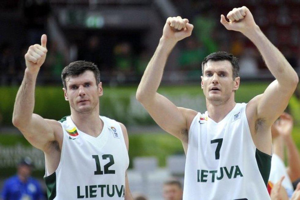 Broliai Kšištofas ir Darjušas Lavrinovičiai (nuotr. SCANPIX)