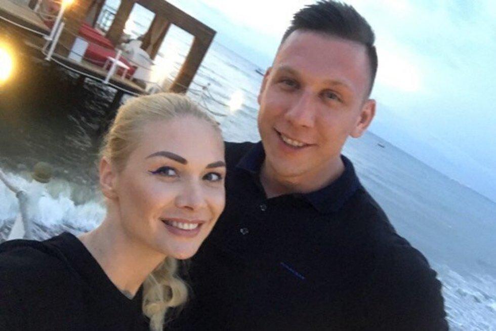 Natalija Bunkė su mylimuoju Edgaru (nuotr. asm. archyvo)