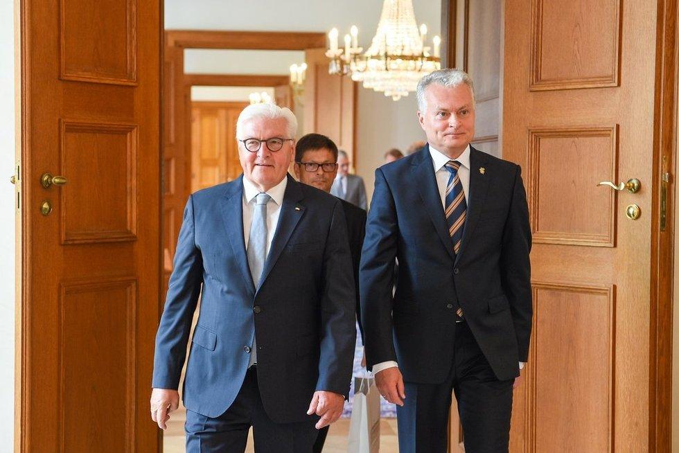 Gitanas Nausėda susitiko su Vokietijos prezidentu (nuotr. Roberto Dačkaus)