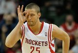 """Rockets"" ir D. Motiejūnas namie įveikė ""Timberwolves"" krepšininkus"
