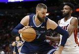 """Valančiūnas surinko dvigubą dublį, bet """"Grizzlies"""" apmaudžiai nusileido """"Rockets"""""""