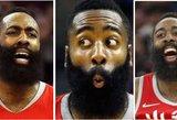"""NBA istorija perrašyta: Hiustono """"barzdočius"""" pasiekė tai, ko nepavyko niekam"""