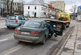 """Vilniaus centre  siautėjo vairuotojas: """"žalialapis"""" prie vairo sėdo sunkiai apgirtęs"""