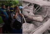 Pasaulį apskriejo klaikūs kadrai po galingo ugnikalnio išsiveržimo: pelenai palaidojo šeimas