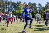 Treniruotę paauglių stovykloje vedusi Vaida Žūsinaitė: judėjimas šeimoje turėtų būti skatinamas nuo vaikystės