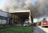 Alytaus meras: aplink užsidegusią gamyklą esančios kitos įmonės sustabdė savo veiklą