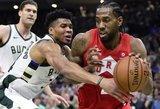 """Milvokyje laimėjusi """"Raptors"""" – per žingsnį nuo NBA finalo"""