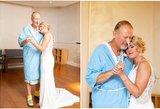 Ašarą spaudžianti tėvo ir dukros akimirka: vestuvių dieną surengė staigmeną