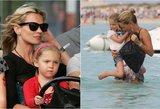 Kaip du vandens lašai: Kate Moss dukra užaugo ir seka mamos pėdomis