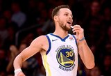 Principiniame NBA lyderių mūšyje – dvigubas Curry triumfas