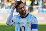 Pavojaus signalas Argentinai – gali ilgam likti be Messi