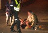 Moters pagalbos šauksmas – užpuolė lazda ir peiliu ginkluotas vyras