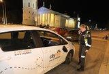 """Veiksmo filmo vertos gaudynės Vilniuje: neblaiviam """"CityBee"""" vairuotojui teks ištuštinti kišenes"""