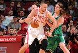 "Kuklus D. Motiejūno indėlis į ""Rockets"" klubo pergalę NBA lygoje"
