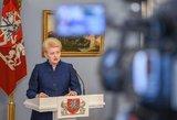 D. Grybauskaitė: Europai nevertėtų veltis į prekybos karą su JAV