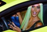 Kim Kardashian plaukus perdažė žalia spalva: nevykęs eksperimentas?