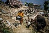 Nepalą sudrebino dar vienas galingas žemės drebėjimas: yra žuvusiųjų