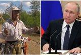 Šamanas iš Sibiro eina pėsčiomis į Maskvą išvaryti Putino