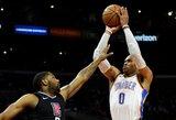 NBA lygoje – įspūdingas rezultatyvumas ir du trigubi dubliai