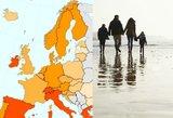 Europa susiduria su problema: žemėlapis išduoda, kur problema rimčiausia
