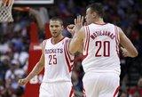 """D. Motiejūnas neprametė nei vieno metimo ir prisidėjo prie """"Rockets"""" pergalės"""