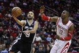"""""""Rockets"""" su D. Motiejūnu paguldė ant menčių NBA vicečempionus"""