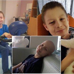 12-metį Devidą sustabdė klastinga liga: išdavė kojos skausmas