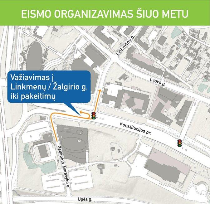 Vienoje pagrindinių Vilniaus gatvių – esminiai eismo pokyčiai